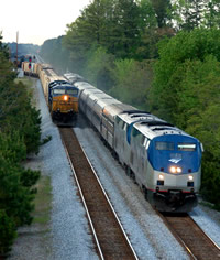 Two Trains Passing