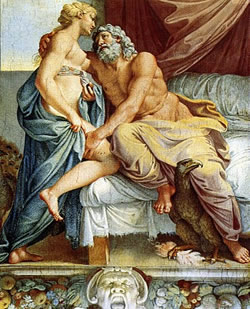 Juno and Jupiter, by Annibale Carracci (c.1597)