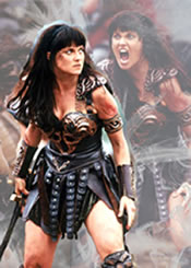 Lucy Lawless as Xena, the Warrior Princess, c1995